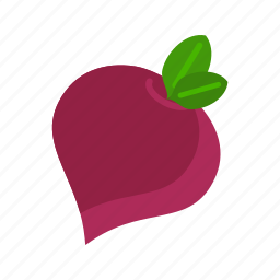 beet, food, fresh, healthy, organic, red, slice icon