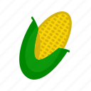 corn, food, plant, summer, sweet, sweetcorn, yellow icon