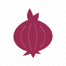 food, ingredient, onion, organic, purple, red, vegetable icon