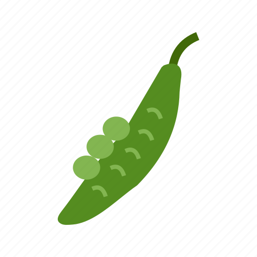food, fresh, green, healthy, natural, peas, pod icon
