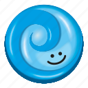 blue, candy, gum, lollipop, two tone icon