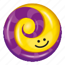 candy, granadilla, lollipop, purple, yellow icon