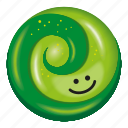 candy, green, kiwifruit, lollipop, two tone icon