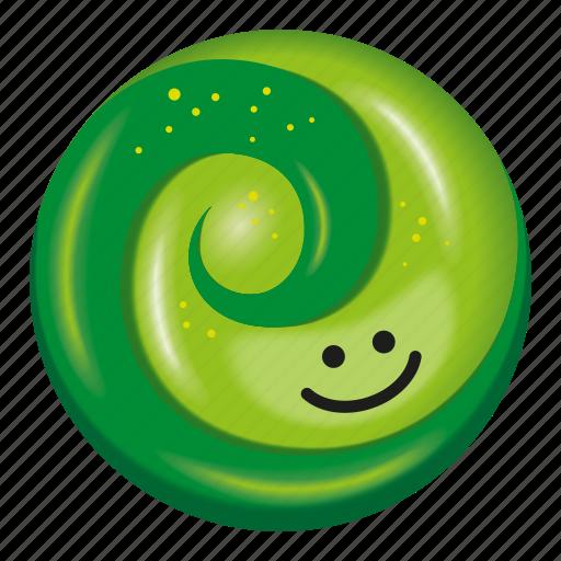 candy, green, kiwifruit, lollipop, two tone icon