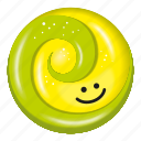 candy, green, lemon, lollipop, yellow icon
