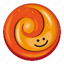 candy, light and dark orange, lollipop, orange, two tone icon