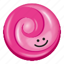 candy, gum, lollipop, pink, two tone icon