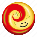 candy, lollipop, red, redapple, yellow icon