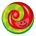 candy, green, lollipop, red, watermelon icon