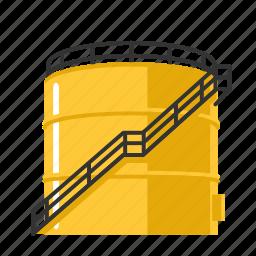 bulk, fuel, liquid, oil, petrol, storage, tank icon