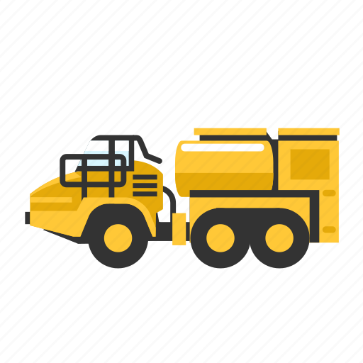 diesel, fuel, gas, large, mining, service, truck icon