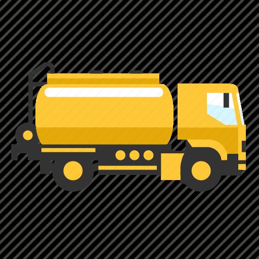 fuel, liquid, oil, service, small, truck icon