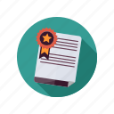 business, certificate icon