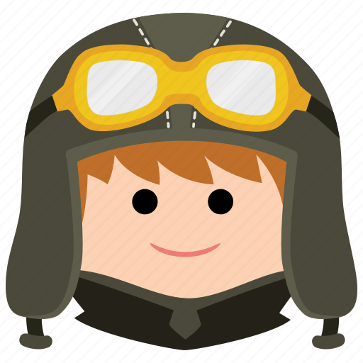 char, goggles, headgear, male, man, pilot, uniform icon