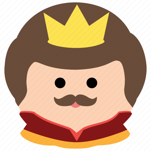 char, crown, king, male, man, mustache, royalty icon