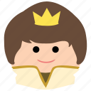 boy, char, crown, male, man, prince, royalty icon