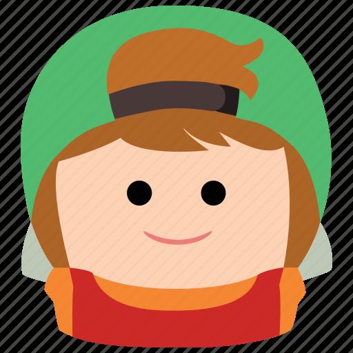 boy, cap, char, hat, male, man icon