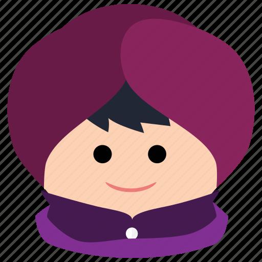 char, head wrap, male, man, sikhs, turban icon