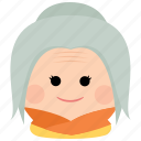 char, elderly, female, grandmother, old, woman icon
