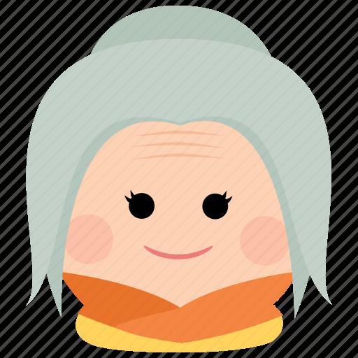 char, elderly, female, grandmother, old, woman icon