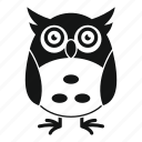 adorable, children, face, funny, little, owl, various icon
