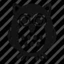 adorable, animal, decoration, fun, funny, happy, owl icon