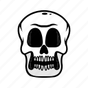 avatar, face, halloween, skull, smile icon
