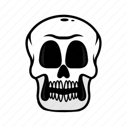 avatar, face, halloween, skull, smile icon