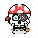 avatar, face, halloween, pirate, skull icon