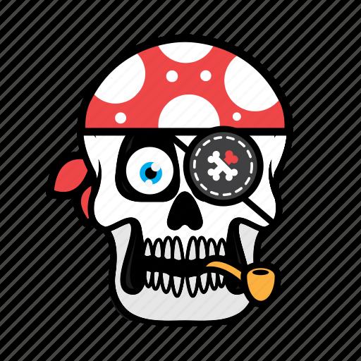 avatar, face, halloween, pirate, skull icon