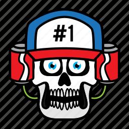 avatar, coke, face, halloween, skull icon