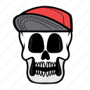 avatar, face, halloween, skull, smile, snapback icon
