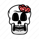 avatar, brain, face, halloween, skull icon