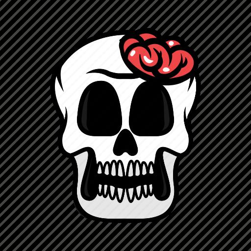 avatar, brain, face, halloween, skull icon