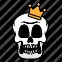 avatar, halloween, face, king, skull