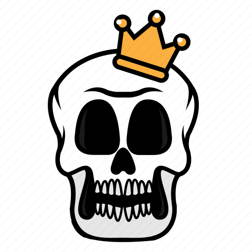 avatar, face, halloween, king, skull icon