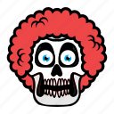 avatar, face, hair, halloween, skull icon