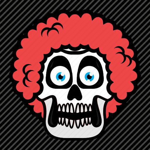 avatar, face, hair, halloween, skull icon