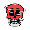 avatar, halloween, face, skull, smoke