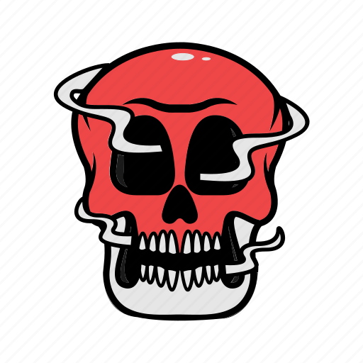avatar, face, halloween, skull, smoke icon