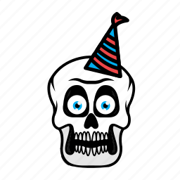 avatar, birthday, face, halloween, skull icon
