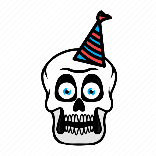 avatar, birthday, face, halloween, skull icon