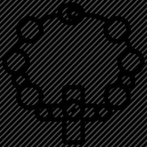 Bead, christian, cross, faith, religious icon - Download on Iconfinder
