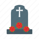 casket, coffin, death, flowers, funeral, graveyard, wreath icon