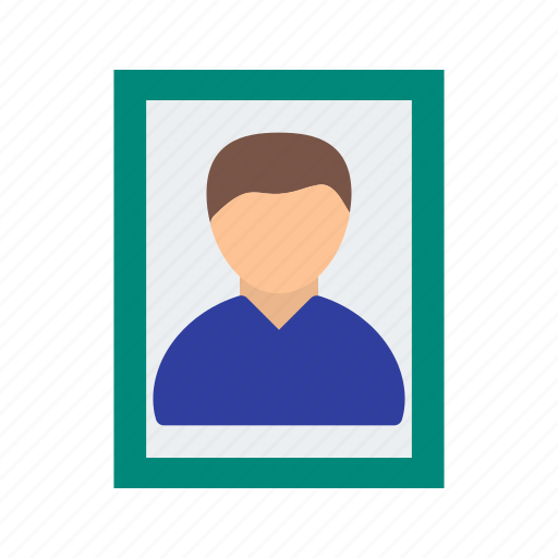 frame, human, image, male, photo, picture, portrait icon