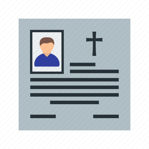 cross, death, flower, funeral, memorial, obituary, wreath icon