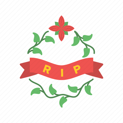 bouquet, cemetery, graveyard, peace, rest, tomb, tombstone icon