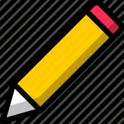 folder, office, paper, pencil icon