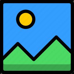 file, landscape, photo, photos, pictures icon