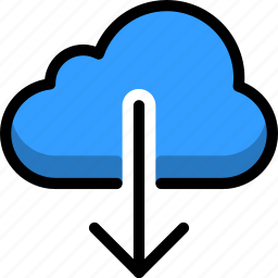 cloud, cloudy, direction, down, rain, right icon